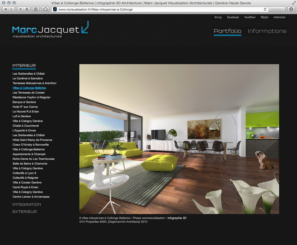 MJ Visualisation - site web 02