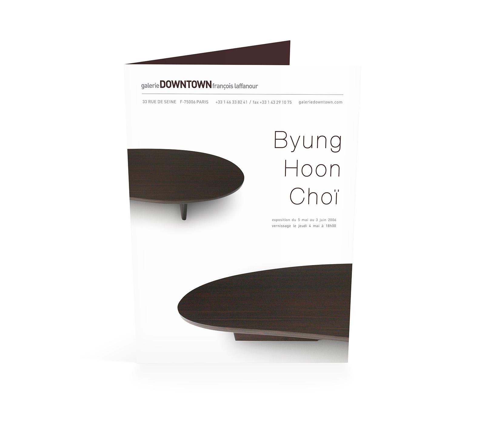 galerieDOWNTOWN - Carton invitation Byung Hoon Choi 2006 F