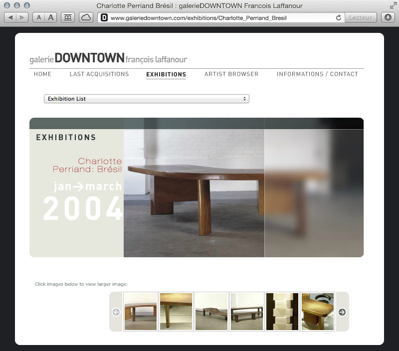galerieDOWNTOWN - exhibitions Charlotte Perriand