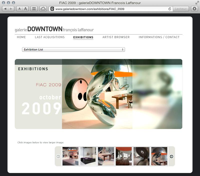 galerieDOWNTOWN - exhibitions FIAC 2009