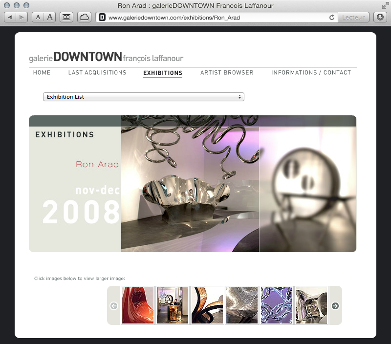 galerieDOWNTOWN - exhibitions Ron Arad