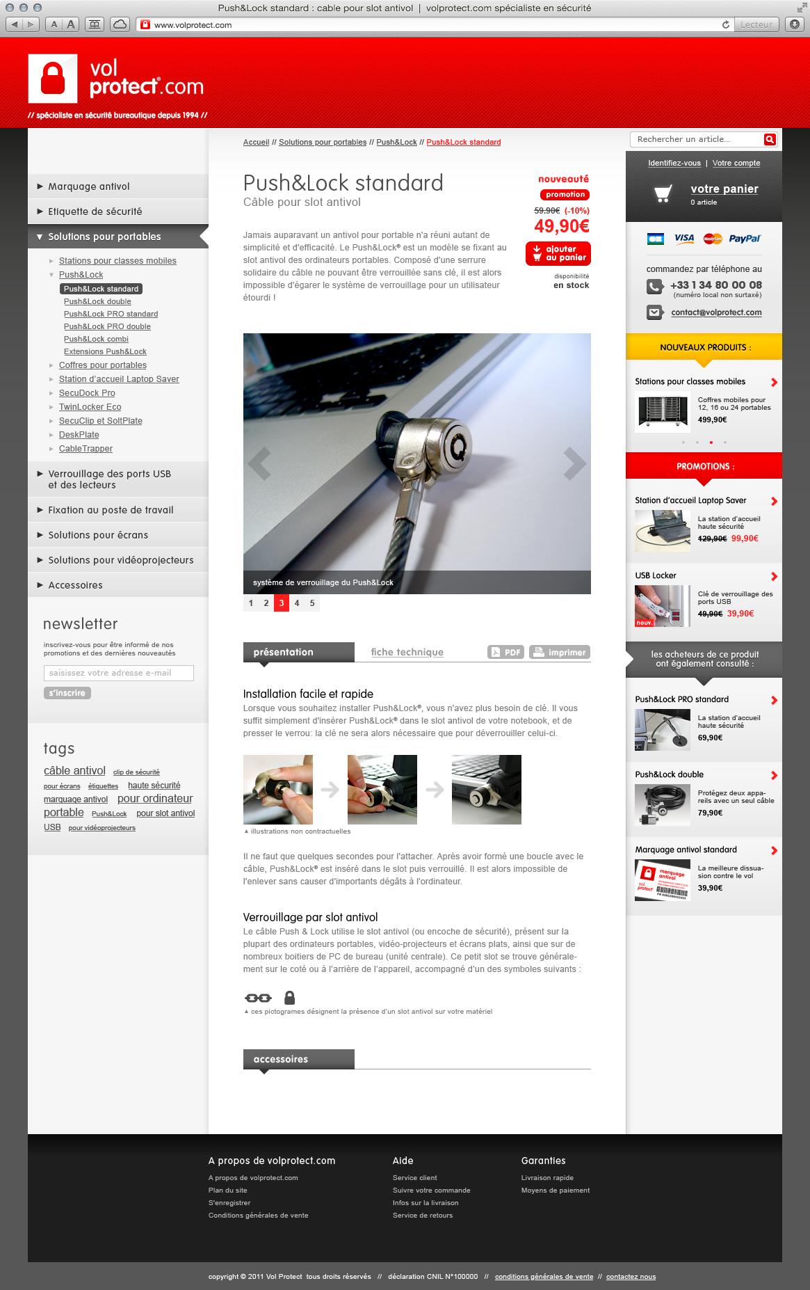 Vol Protect - site web
