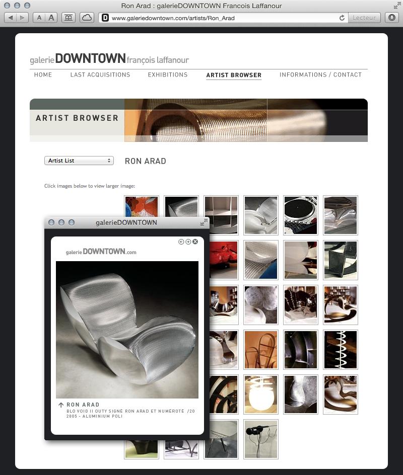 galerieDOWNTOWN - artist browser Ron Arad