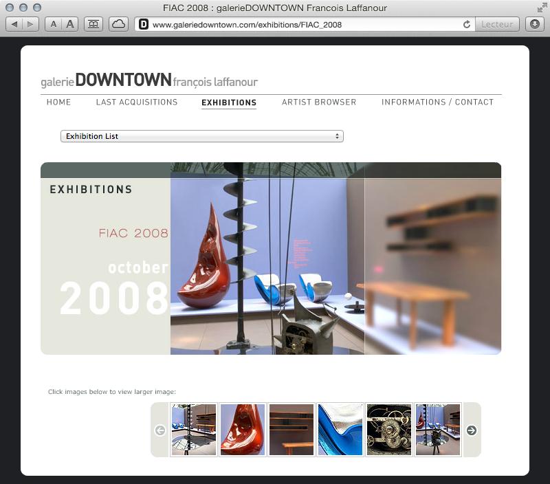 galerieDOWNTOWN - exhibitions FIAC 2008