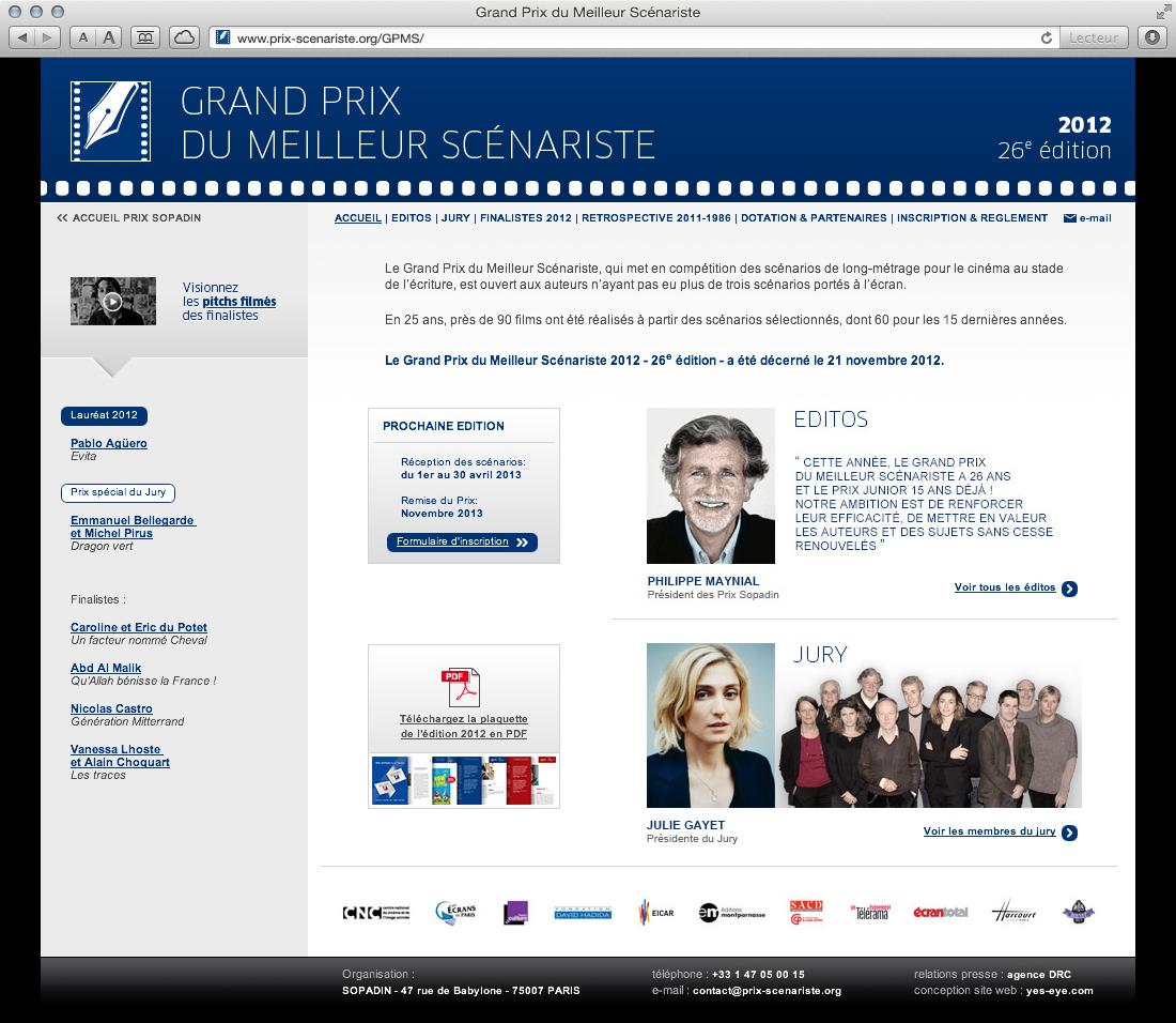 Sopadin - site web 2 GPMS accueil