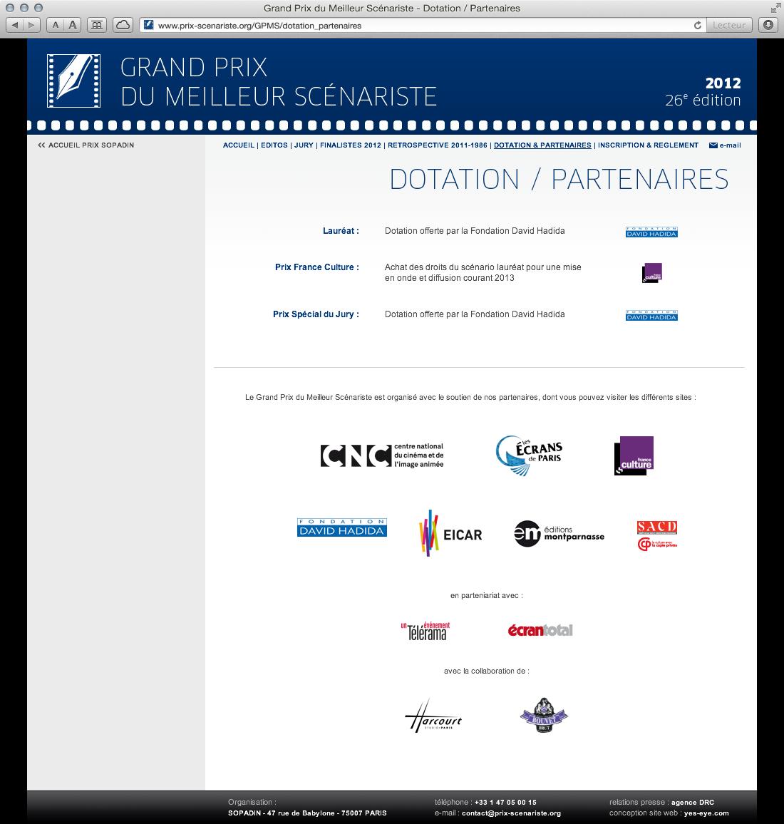 Sopadin - site web 6 GPMS dotation partenaires